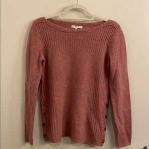 Madewell small pink sweater